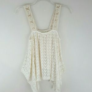 Anthropologie Staring At Stars Floral Crochet Top